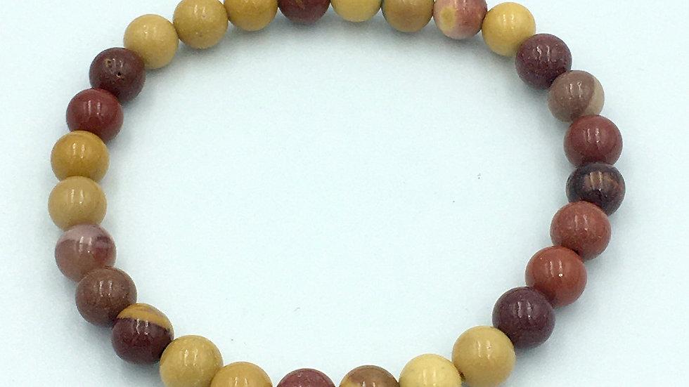 Mookaite Jasper 6 mm Bead Bracelet