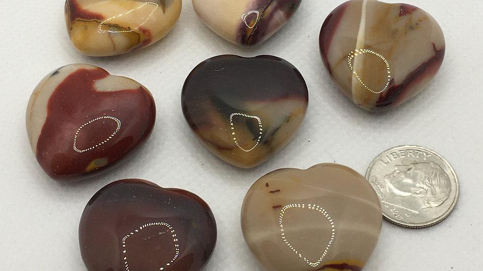 Mookaite Jasper Mini Hearts