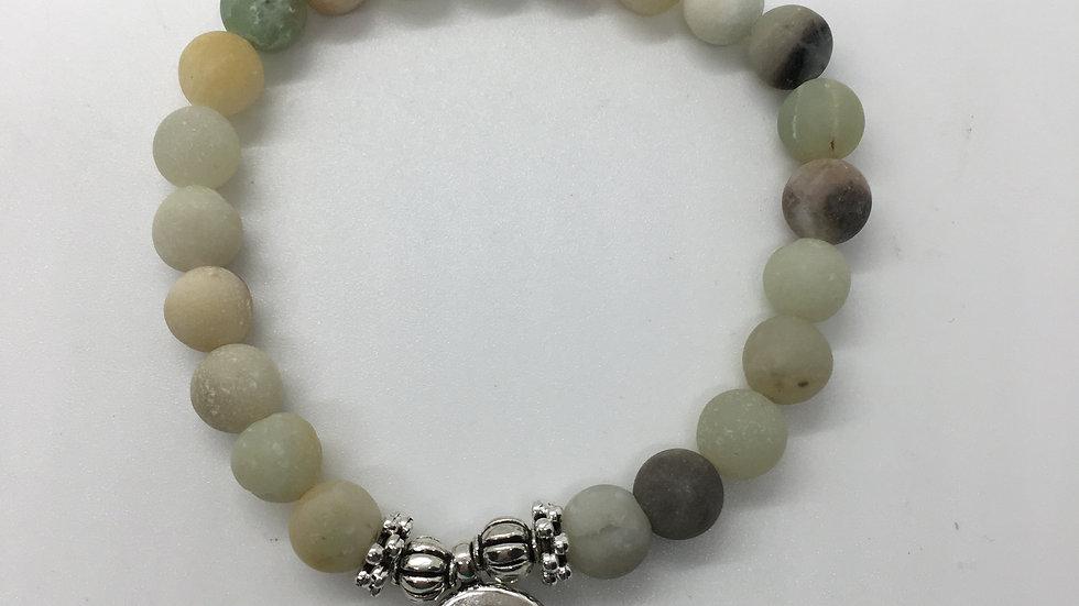 Amazonite Bracelet with Om Charm