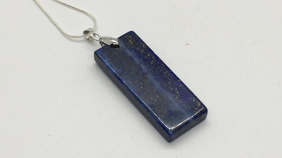 Lapis Lazuli Rectangular Shaped Necklace