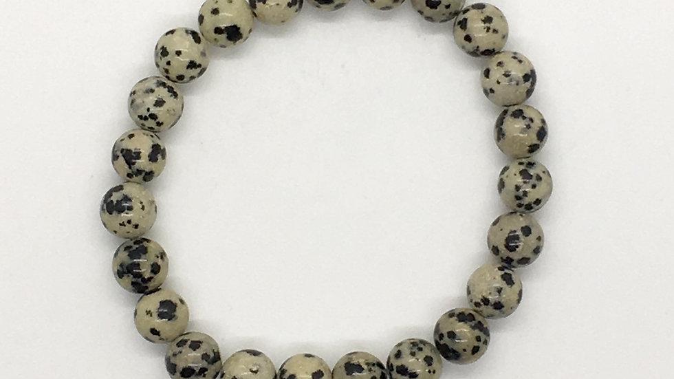 Dalmatian Jasper with 8 mm beads