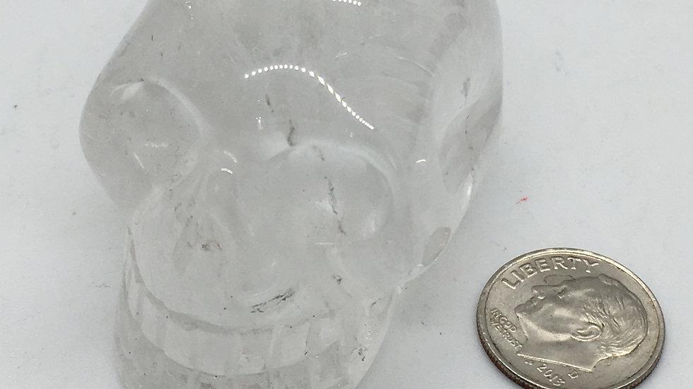 """Clear Quartz 2"""" Skull"""