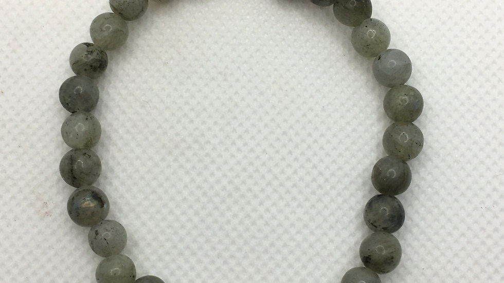 Labradorite Bracelet with 6 mm Beads