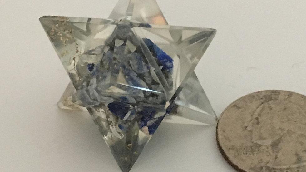 Lapis Lazuli Orgonite Merkaba