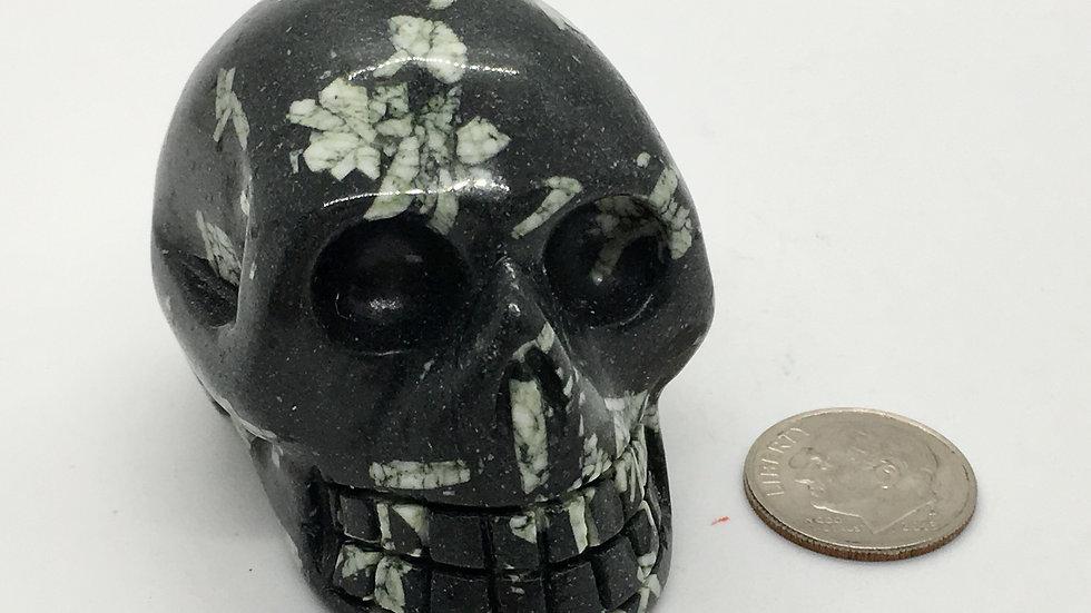 """Chinese Writing Stone 2"""" Skull"""