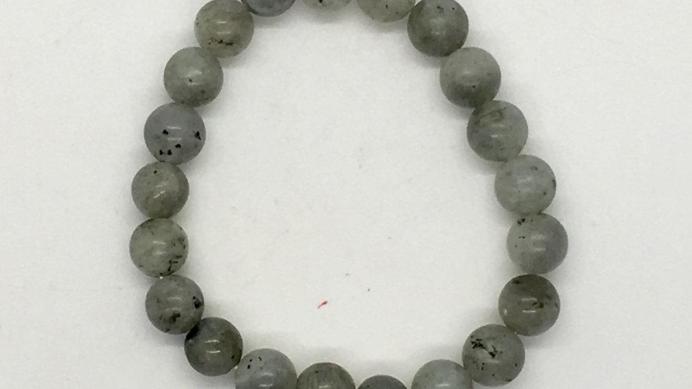 Labradorite Bracelet with 8 mm Beads
