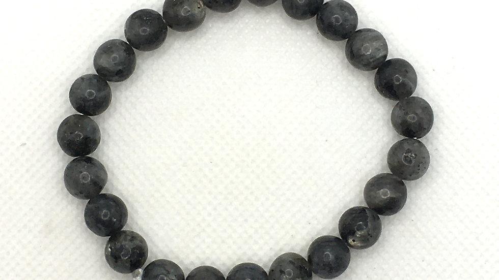 Larvikite Bracelet with 8 mm Beads