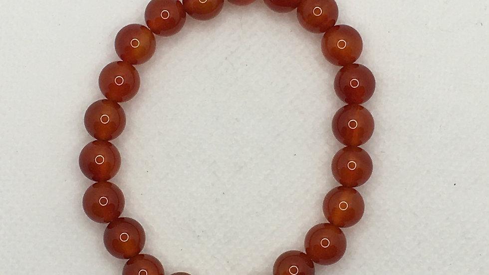 Carnelian Bracelet with 8 mm beads