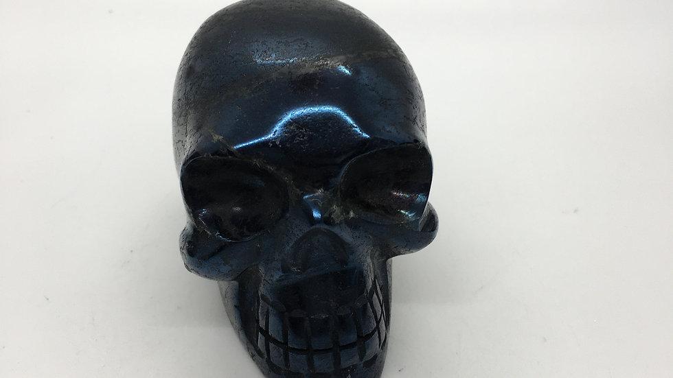 """Covellite 3"""" Skull"""