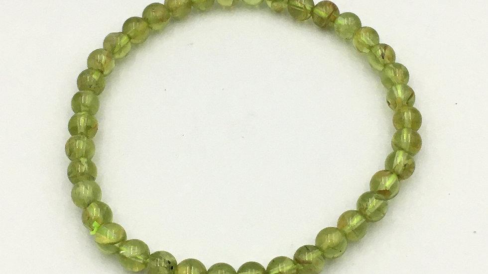 Peridot Bracelet with 5 mm Beads