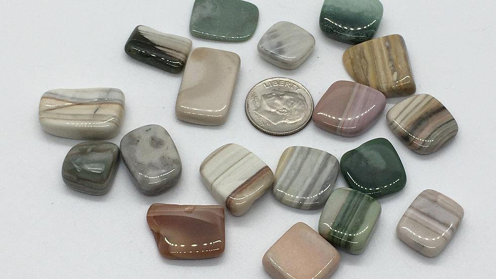 Saturn Chalcedony Mini Flat Stones