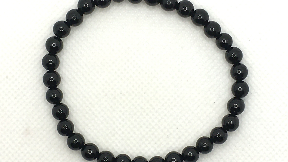 Black Tourmaline 6 mm bead Bracelet