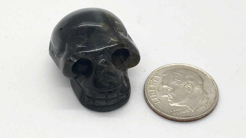 Blue Tiger Eye Baby Skull