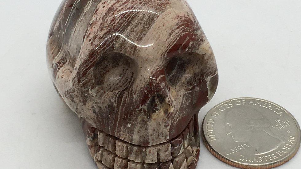 "Brecciated Jasper 2"" Skull"