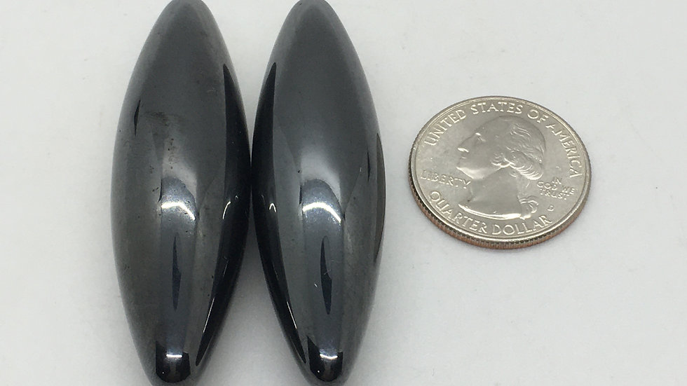 Magnetic Hematite Oval Pair