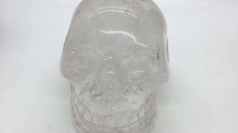 """Clear Quartz 4"""" Skull"""
