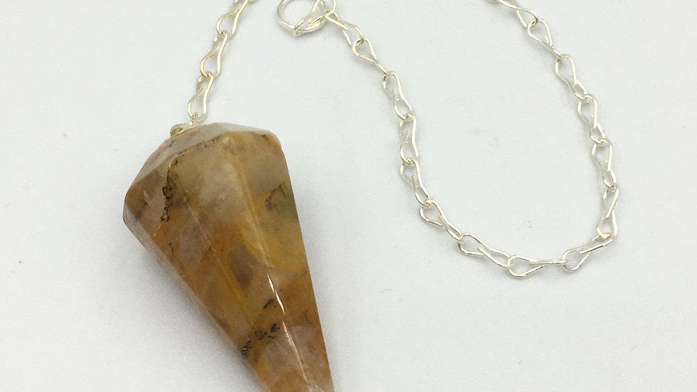 Golden Healer Quartz Pendulum