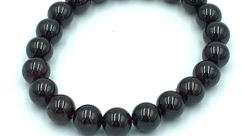 Garnet Bracelet with 9 mm Beads