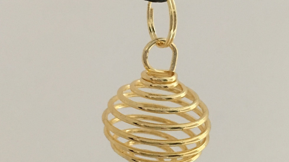 Round Gold Pendant Cage