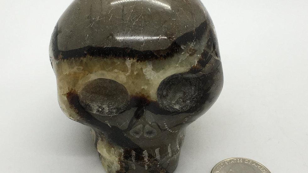 """Septarian 3"""" Skull"""
