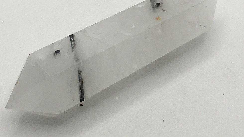 Tourmalinated Quartz Double Terminated Point