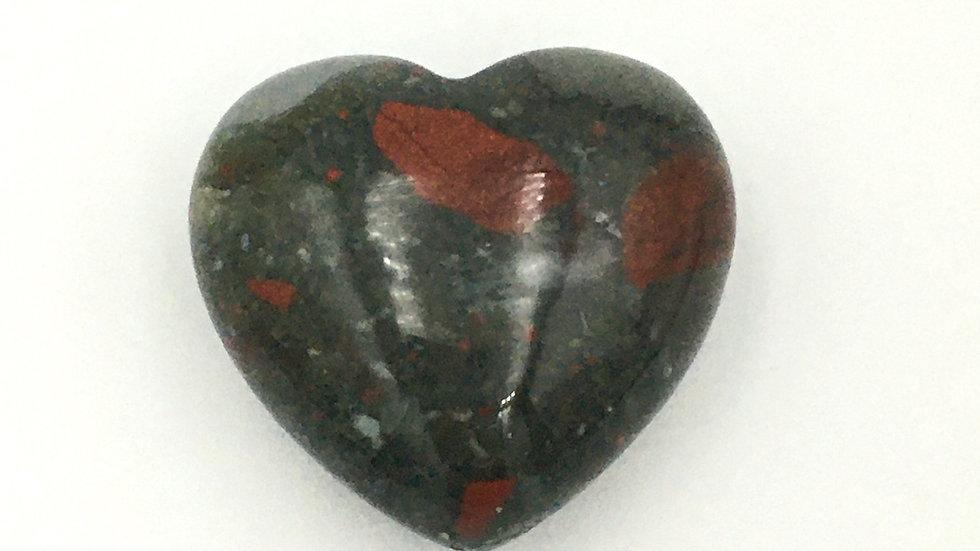 Bloodstone Mini Heart