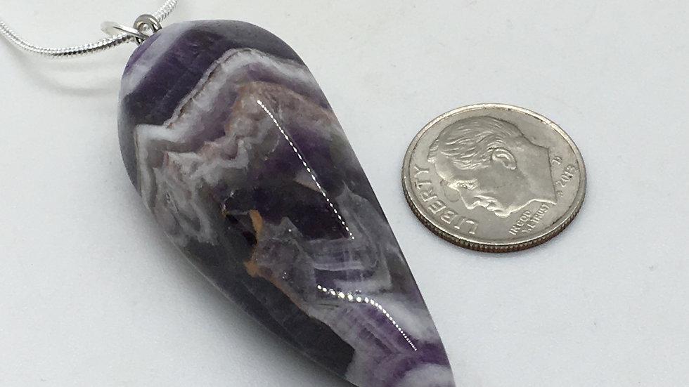 Chevron Amethyst Necklace