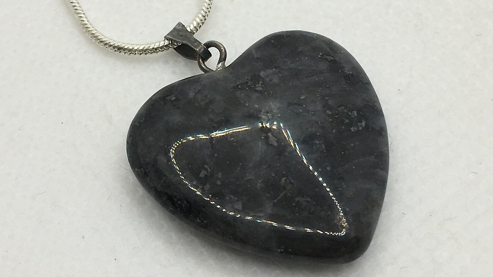 Larvikite Heart Shaped Necklace