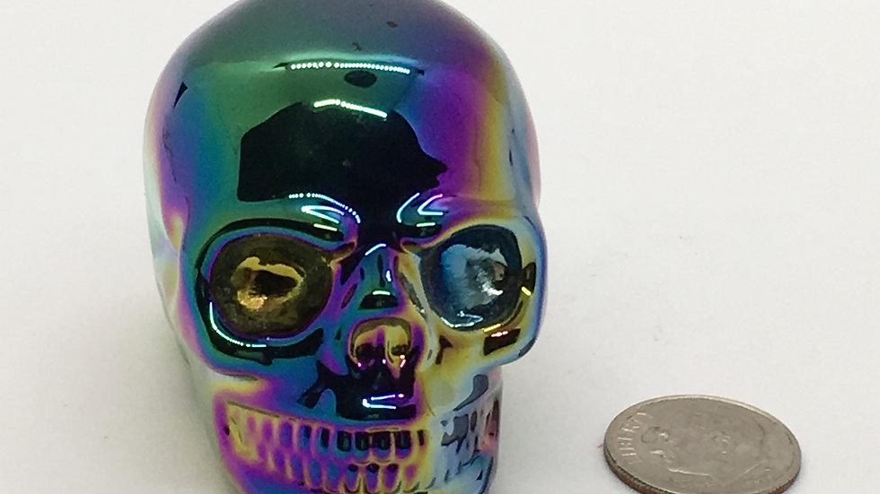 Titanium Smoky Quartz Skull