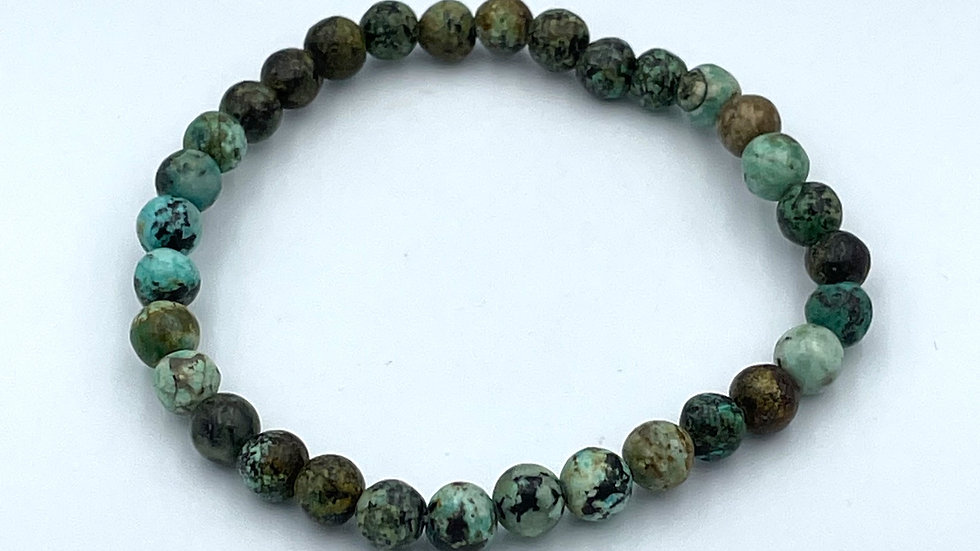 African Turquoise Bracelet with 6 mm Beads