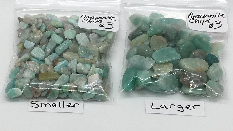 Amazonite Chips