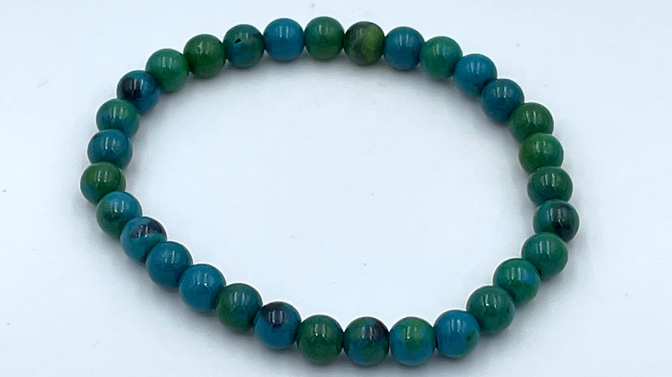 Chrysocolla Bracelet with 6 mm Beads