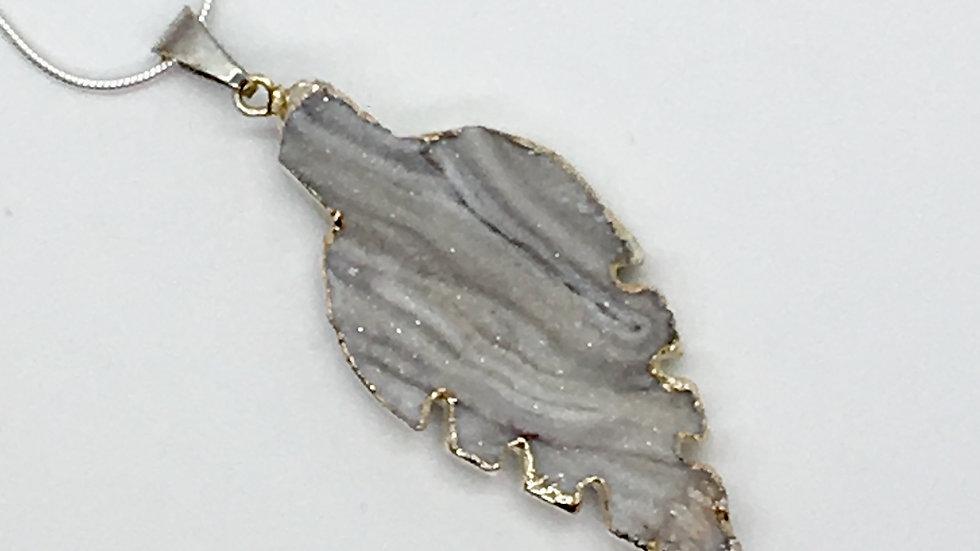 Druze Leaf Necklace
