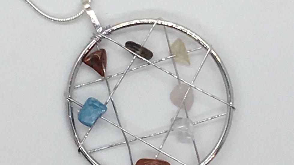 Chakra Dream Catcher Necklace