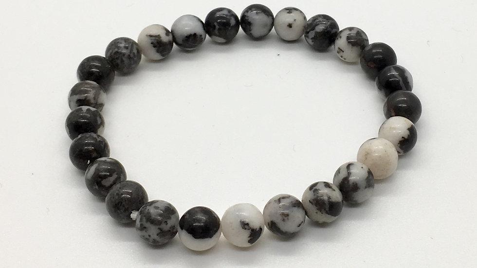 Zebra Jasper Bracelet with 8 mm beads