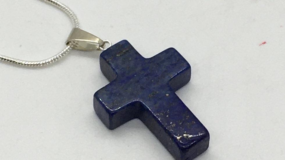 Lapis Lazuli Cross Necklace