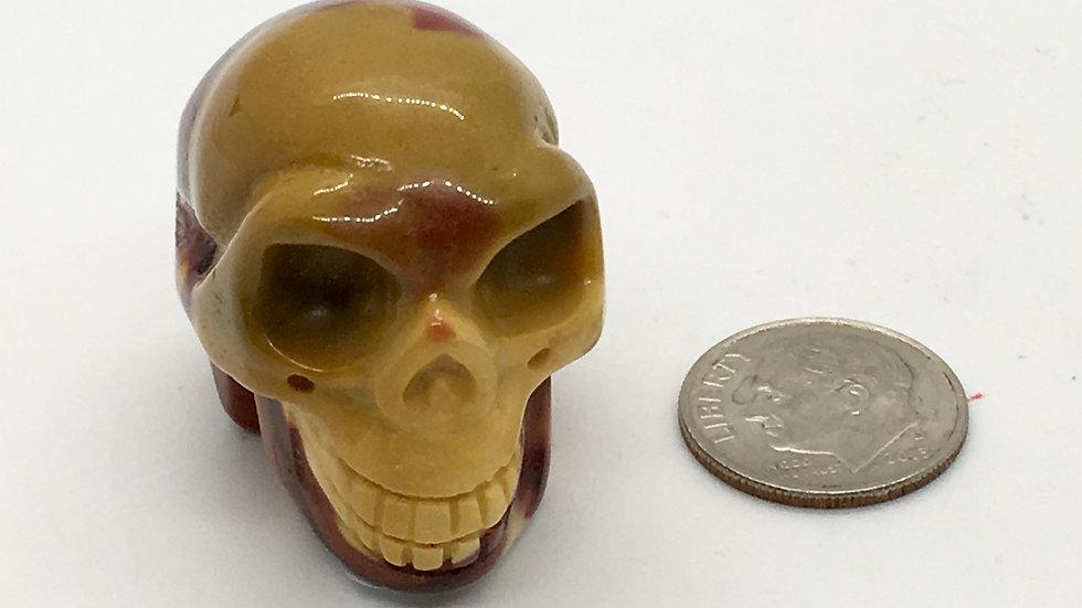 "Mookaite Jasper 1 1/4"" Skull"