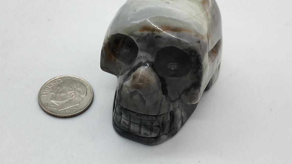 """Picasso Jasper 2"""" Skull"""