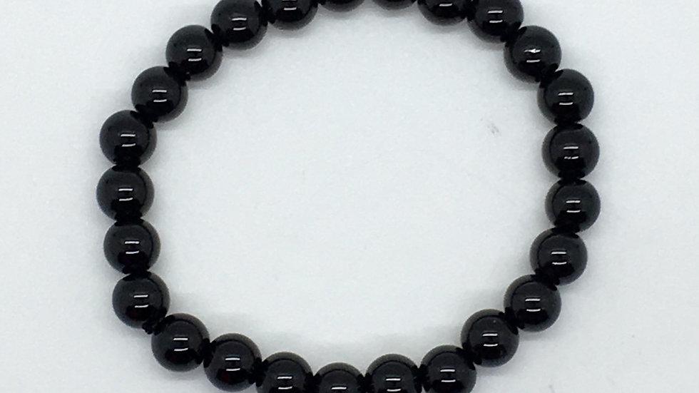 Black Obsidian Bracelet with 8 mm beads