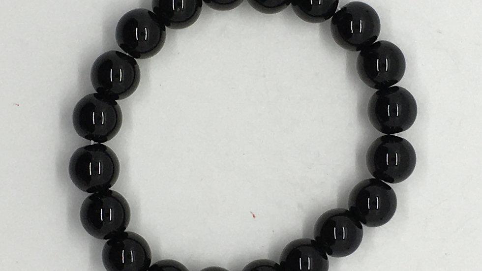Black Onyx Bracelet with 10 mm beads