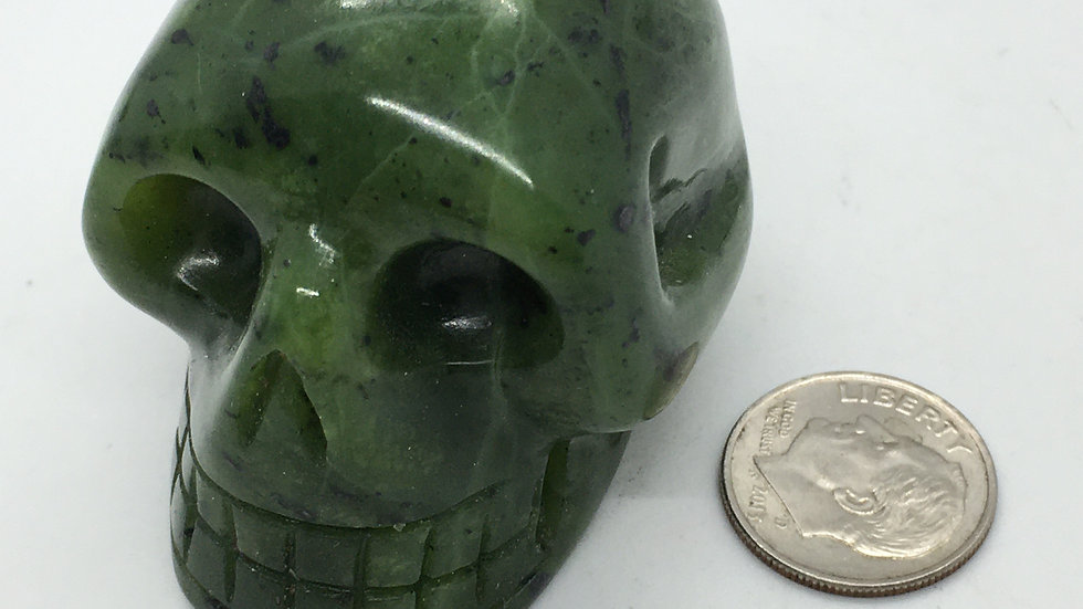 "Nephrite Jade 2"" Skull"