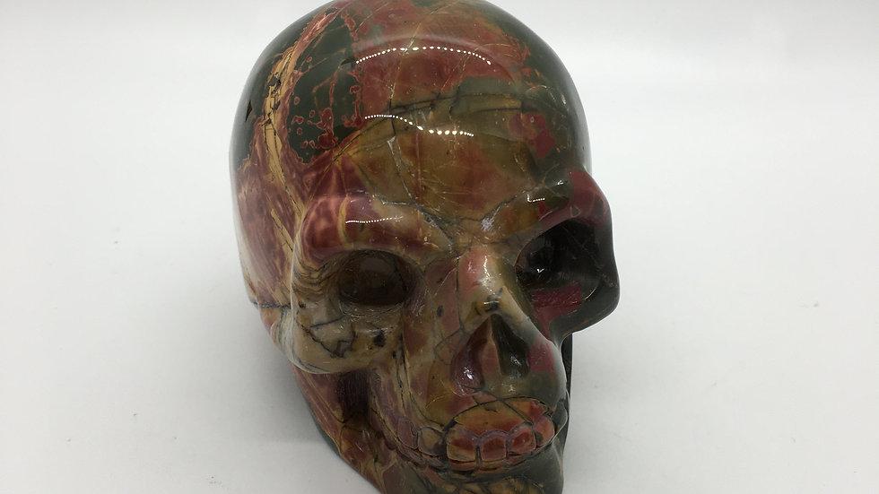 "Red Creek Jasper 4"" Skull"