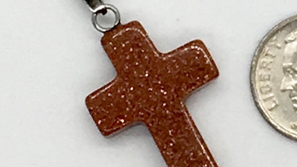 Red Goldstone Cross
