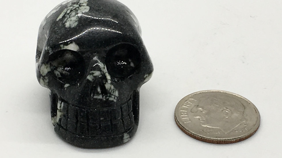 "Chinese Writing Stone 1 1/8"" Skull"