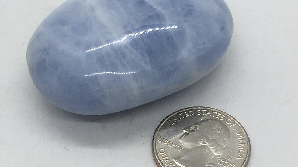 Blue Calcite Palm Stone