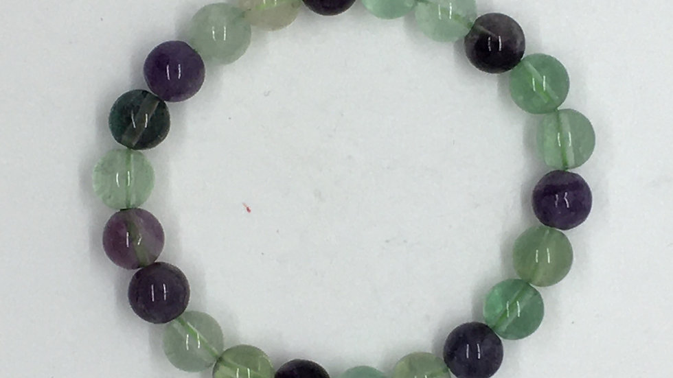 Fluorite Bracelet with 8mm Beads