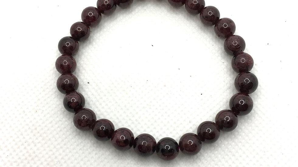 Garnet Bracelet with 7-8 mm Beads