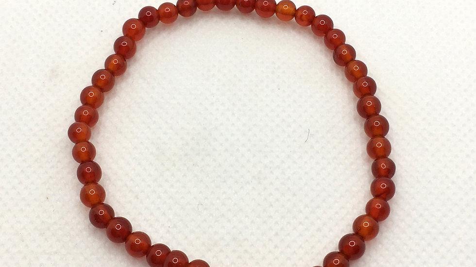 Carnelian Bracelet with 4 mm beads
