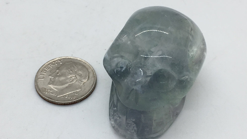 "Fluorite 1 1/2"" Skull"