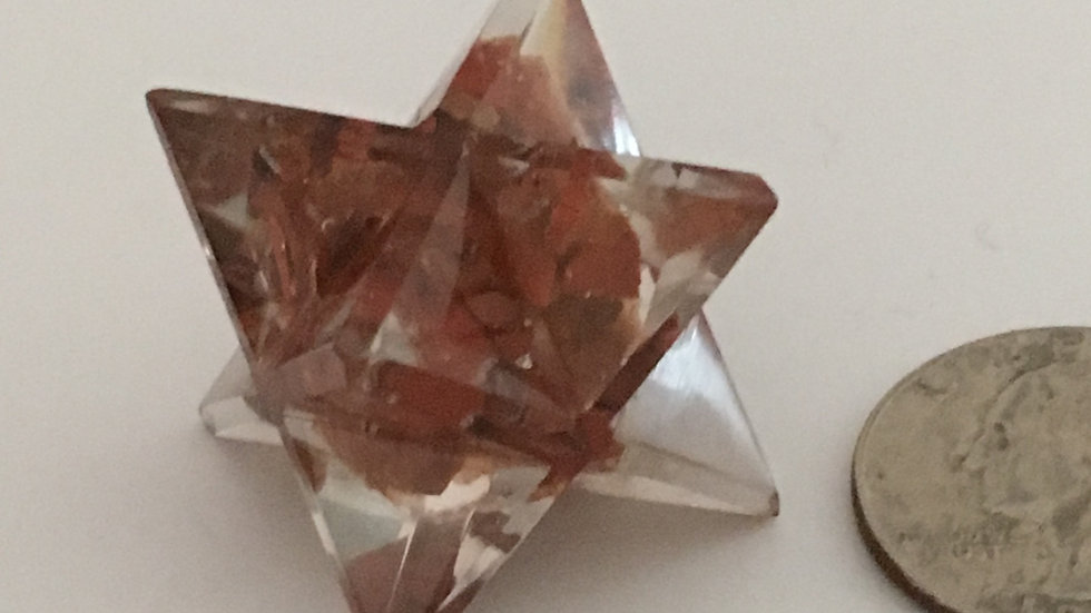 Red Jasper Orgonite Merkaba